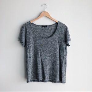 Rag & Bone | NWOT Gray 100% Linen T-Shirt